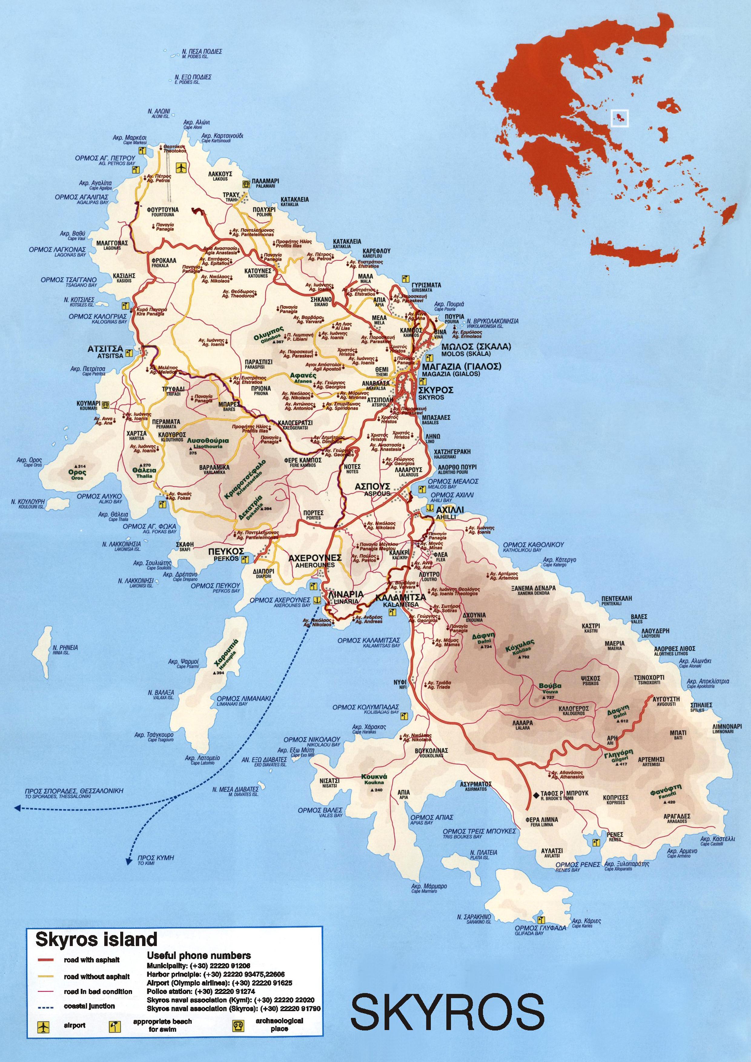 Maps Linaria Skyroy Limeniko Tameio